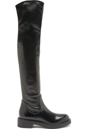 Prada Over-the-knee Leather Boots - Womens