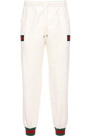 Gucci Gg Patch & Web Cotton Track Pants