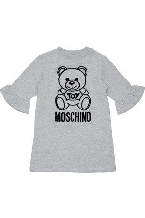 Moschino Flocked Toy Bear Cotton Sweat Dress