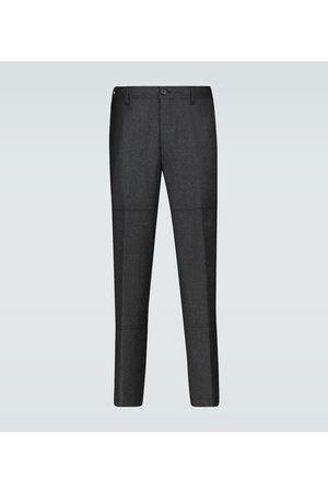 Lanvin Wool-blend patch pants