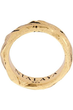 Nialaya Men Rings - Engraved ring