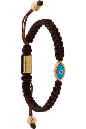 Nialaya Jewelry Men Bracelets - Evil Eye string bracelet