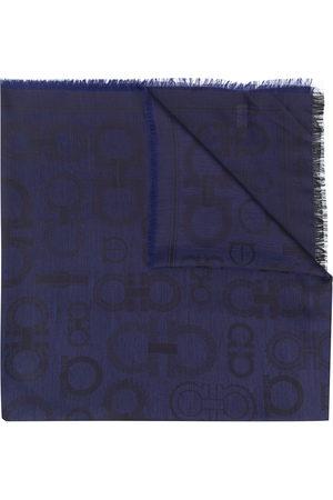 Salvatore Ferragamo Jacquard Gancini pattern scarf