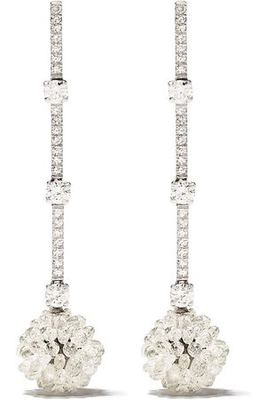 David Morris 18kt diamond Briolette pendant earrings