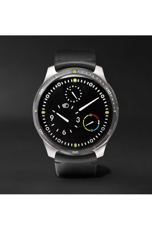 Ressence Men Watches - Type 5 Mechanical 46mm Titanium and Leather Watch, Ref. No. TYPE 5B