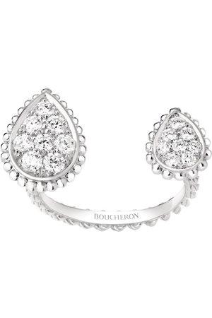 Boucheron White Gold and Diamond Serpent Bohème Asymmetric Ring