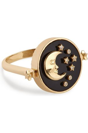 L'Atelier Nawbar Yellow and Diamond Cosmic Love Day and Night Ring Size 45