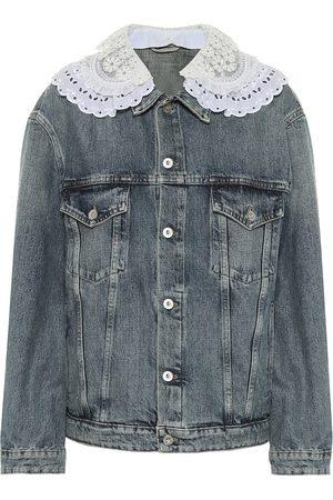Miu Miu Lace-trimmed denim jacket
