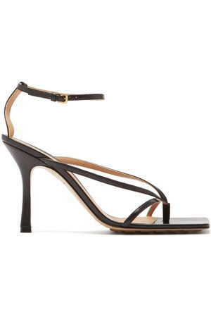 Bottega Veneta Stretch Square-toe Leather Sandals - Womens