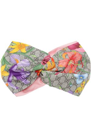 GUCCI Flora Printed Silk Headband