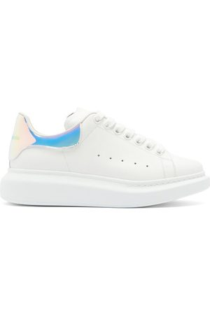 Alexander McQueen Oversized Holographic-heel Leather Trainers - Womens - Multi
