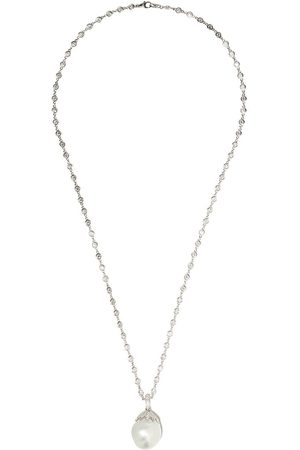 Yoko London 18kt white gold baroque pearl and diamond necklace - 7