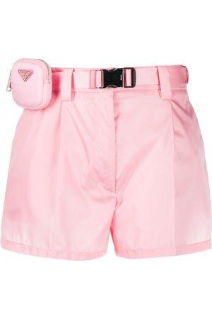 Prada Pouch belt shorts