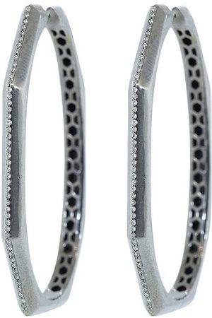 Sorellina Otto diamond hoop earrings