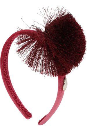 MONNALISA Satin Headband Headband W/pompom