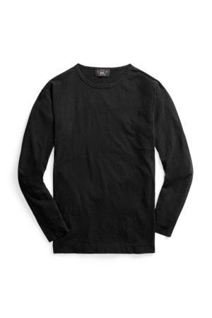 RRL Men Hoodies - Indigo Long-Sleeve T-Shirt