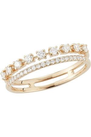 Dana Rebecca Designs 18kt white gold Ava Bea diamond double row ring - WHTGOLD