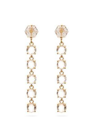 Suzanne Kalan Topaz & 14kt Drop Earrings - Womens