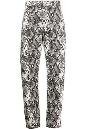 The Attico Dua python-effect print trousers