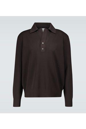 Bottega Veneta Knitted long-sleeved polo shirt