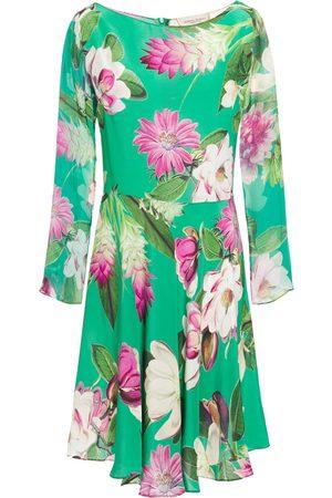 Adriana Degreas Woman Asymmetric Floral-print Silk Crepe De Chine Dress Size L