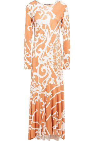 Adriana Degreas Woman Asymmetric Printed Jersey Maxi Dress Copper Size L