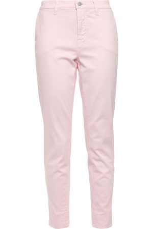 J Brand Woman Cropped Cotton-blend Twill Tapered Pants Pastel Size 23
