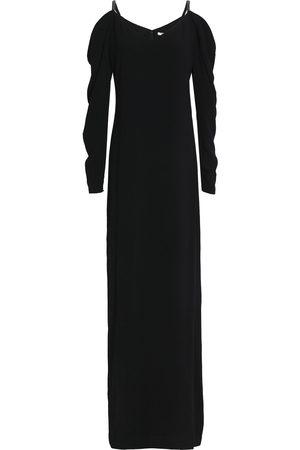 Halston Heritage Woman Cold-shoulder Bead-embellished Crepe Gown Size 0