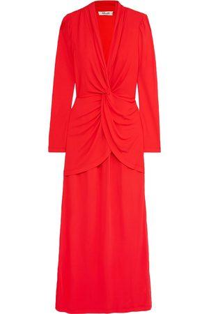 Diane von Furstenberg Woman Stacia Twist-front Crepe Maxi Dress Size 2