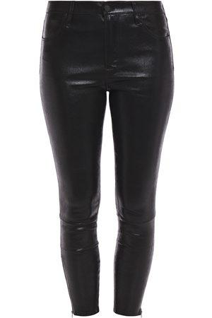 J Brand Woman Edita Glossed Stretch-leather Leggings Size 23