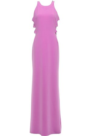 Halston Heritage Woman Cutout Twisted Stretch-crepe Gown Lavender Size 10