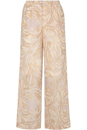 SEE BY CHLOÉ See By Chloé Woman Printed Silk-georgette Wide-leg Pants Cream Size 38