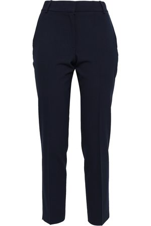THEORY Woman Wool-blend Tapered Pants Navy Size 6