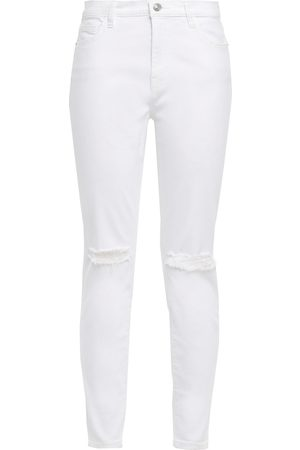 Current/Elliott Woman Distressed High-rise Skinny Jeans Size 23