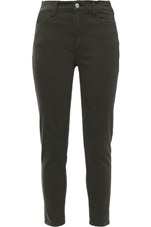 J Brand Woman Alana Cropped Cotton-blend Skinny Pants Forest Size 23