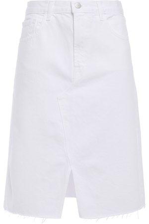 J Brand Woman Trystan Distressed Denim Skirt Size 25