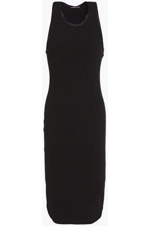 James Perse Woman Ribbed Cotton-blend Jersey Midi Dress Size 1