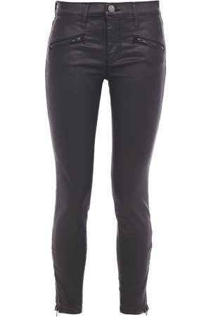 Current/Elliott Woman Coated Mid-rise Skinny Jeans Size 24
