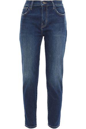 Current/Elliott Woman The Stiletto Distressed High-rise Skinny Jeans Dark Denim Size 30