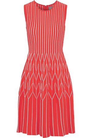 LELA ROSE Woman Pleated Ponte Dress Papaya Size M