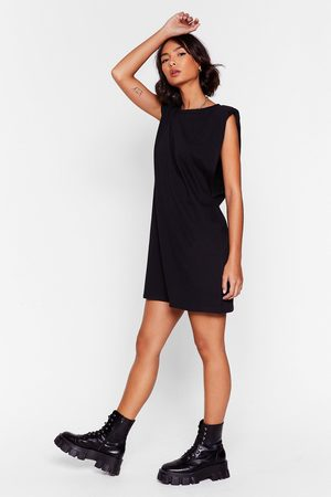 NASTY GAL Womens Chip On Your Shoulder Jersey Mini Dress - - 4