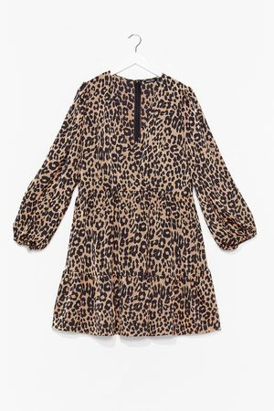NASTY GAL Womens Tell 'Em Prowl It is Leopard Plus Dress - - 16