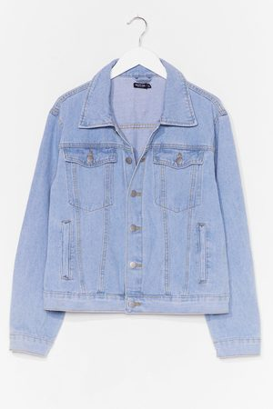NASTY GAL Womens Seam It All Plus Denim Jacket - - 22