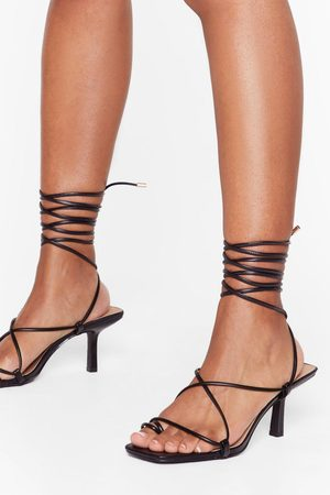 Nasty Gal Womens Strappy Lace Up Kitten Heels