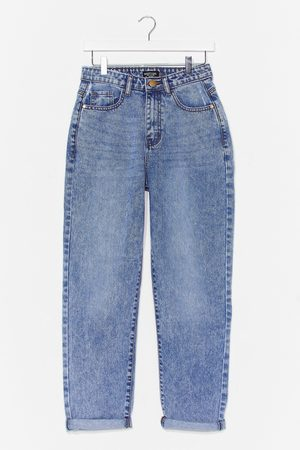 NASTY GAL Womens Let's Rock and Roll Hem Mom Jeans - - 10