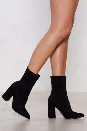 NASTY GAL Womens Sock It to Me Heeled Boot - - 3
