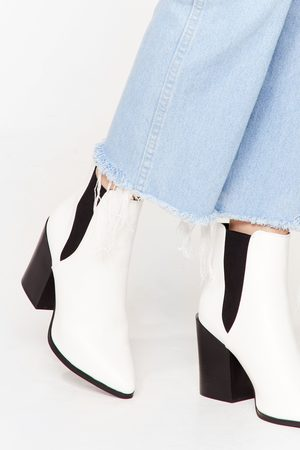 NASTY GAL Womens Walk Away Faux Leather Chelsea Boots - - 3