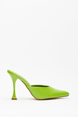 NASTY GAL Womens Faux Leather Pointed Toe Stiletto Heels