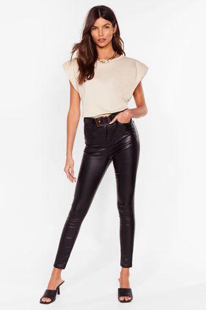 NASTY GAL Women High Waisted - Womens Get Coated High-Waisted Skinny Jeans