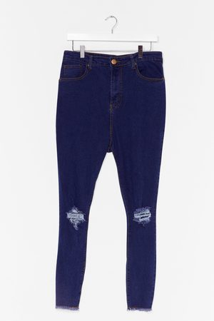 NASTY GAL Womens Rip's the in Thing Plus Skinny Jeans - - 22